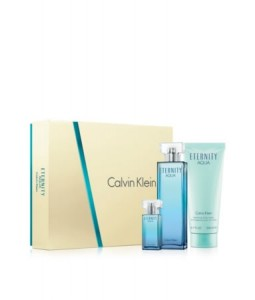 CALVIN KLEIN CK ETERNITY AQUA 3 PCS GIFT SET FOR WOMEN
