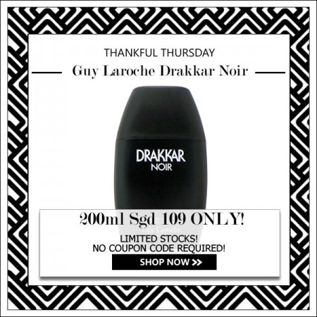 GUY LAROCHE DRAKKAR NOIR EDT FOR MEN 200ML [THANKFUL THURSDAY SPECIAL]