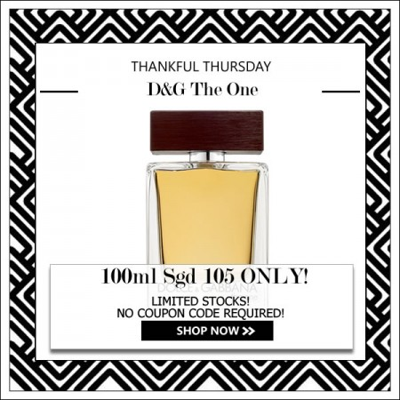 DOLCE & GABBANA D&G THE ONE EDT FOR MEN 100ML [THANKFUL THURSDAY SPECIAL]