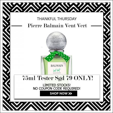 PIERRE BALMAIN VENT VERT EDT FOR WOMEN 75ML TESTER [THANKFUL THURSDAY SPECIAL]