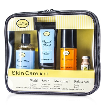 THE ART OF SHAVING SKINCARE KIT (FOR SENSITIVE SKIN): FACIAL WASH + FACIAL SCRUB + MOISTURIZER + AFTER SHAVE MASK 4PCS