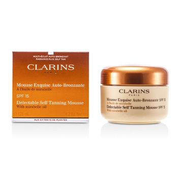 CLARINS DELECTABLE SELF TANNING MOUSSE WITH MIRABELLE OIL SPF 15 125ML/4.2OZ