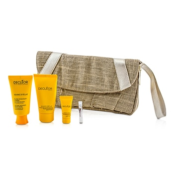 DECLEOR SOURCE DECLAT SET: MOISTURISER + PEEL-OFF MASK + NIGHT BALM + AROMESSENCE NEROLI + BAG 4PCS+1BAG