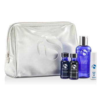 IS CLINICAL FOR MEN KIT SYSTEM: CLEANSING COMPLEX + ACTIVE SERUM + HYDRA-COOL SERUM + EXTREME PROTECT SPF30 + BAG 4PCS+BAG