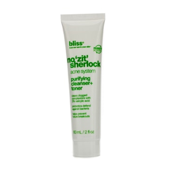 BLISS NO ZIT SHERLOCK PURIFYING CLEANSER + TONER 60ML/2OZ