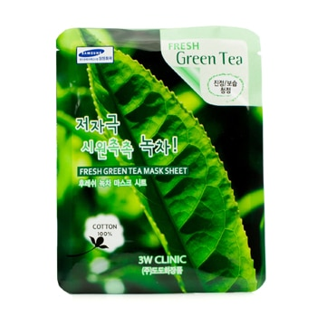 3W CLINIC MASK SHEET - FRESH GREEN TEA 10PCS
