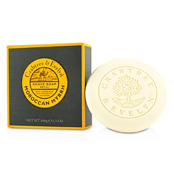 CRABTREE & EVELYN MOROCCAN MYRRH SHAVE SOAP REFILL 100G/3.5OZ