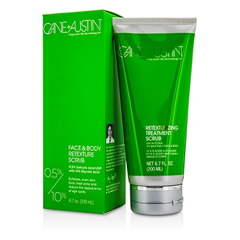 CANE + AUSTIN 10PERCENT/ 5PERCENT FACE & BODY RETEXTURE SCRUB 200ML/6.7OZ