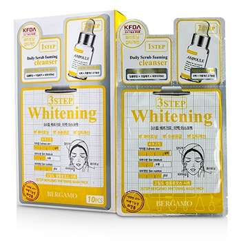 BERGAMO 3STEP BERGAMO MASK PACK - WHITENING 10PCS