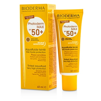 BIODERMA PHOTODERM MAX VERY HIGH PROTECTION TINTED AQUAFLUID SPF50+ (TEINTE DOREE GOLDEN COLOUR) - FOR SENSITIVE SKIN 40ML/1.33OZ