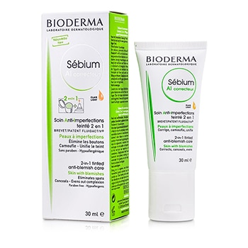 BIODERMA SEBIUM AI CORRECTIVE 2 IN 1 TINTED ANTI-BLEMISH CARE (FOR SKIN WITH BLEMISHES) - CLAIR LIGHT (EXP. DATE 10/2016) 30ML/1OZ