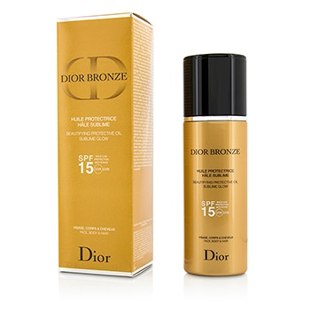 CHRISTIAN DIOR DIOR BRONZE BEAUTIFYING PROTECTIVE OIL SUBLIME GLOW SPF 15 - FOR FACE, BODY & HAIR 125ML/4.2OZ