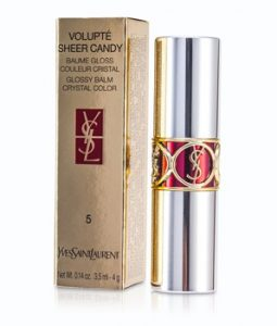 YVES SAINT LAURENT VOLUPTE SHEER CANDY LIPSTICK (GLOSSY BALM CRYSTAL COLOR) - # 05 MOUTHWATERING BERRY 4G/0.14OZ