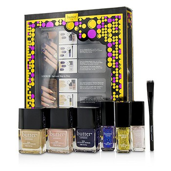 BUTTER LONDON PASSWORD PLEASE NAIL ART COLLECTION WITH BRUSH 7PCS Makeup Cosmetics Malaysia