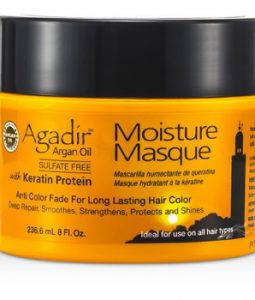 AGADIR ARGAN OIL KERATIN PROTEIN MOISTURE MASQUE (ANTI COLOR FADE FOR LONG LASTING HAIR COLOR, IDEAL FOR USE ON ALL HAIR TYPES) 236.6ML/8OZ