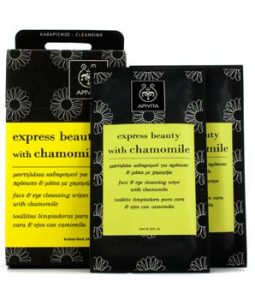 APIVITA EXPRESS BEAUTY FACE & EYE CLEANSING WIPES WITH CHAMOMILE 6X(5ML/0.16OZ)
