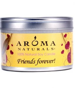 AROMA NATURALS 100% NATURAL SOY CANDLE - FRIENDS FOREVER 6.5OZ