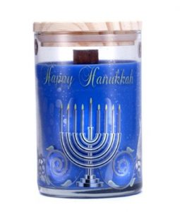 TERRA ESSENTIAL SCENTS HAND-POURED SOY CANDLE - HAPPY HANUKKAH 12OZ