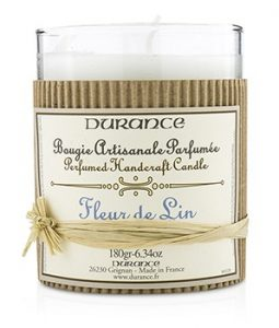 DURANCE PERFUMED HANDCRAFT CANDLE - LINEN FLOWER 180G/6.34OZ