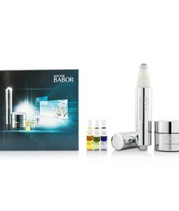 BABOR DOCTOR BABOR SET: CREAM 30ML+EYE CREAM 15ML+GLOW BOOSTER AMPOULE 1ML+STRESS-RELIEF AMPOULE 1ML+YOUTH CONTROL AMPOULE 1ML 5PCS