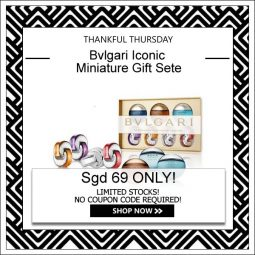 BVLGARI ICONIC MINIATURE COLLECTION GIFT SET FOR MEN AND WOMEN [THANKFUL THURSDAY SPECIAL]my