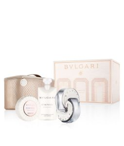 BVLGARI OMNIA CRYSTALLINE 4 PCS WITH BEAUTY POUCH GIFT SET FOR WOMEN