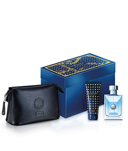 VERSACE POUR HOMME BLACK TROUSSE GIFT SET FOR MEN