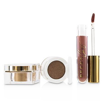 BECCA BECCA X CHRISSY CRAVINGS GLOW KITCHEN KIT (1X EYESHADOW, 1X LIQUID LIPSTICK, 1X HIGHLIGHTER)  3PCS
