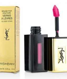 YVES SAINT LAURENT ROUGE PUR COUTURE VERNIS A LEVRES GLOSSY STAIN - # 15 ROSE VINYL  6ML/0.2OZ