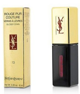 YVES SAINT LAURENT ROUGE PUR COUTURE VERNIS A LEVRES GLOSSY STAIN - # 13 ROSE TEMPURA  6ML/0.2OZ