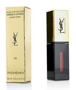 YVES SAINT LAURENT ROUGE PUR COUTURE VERNIS A LEVRES GLOSSY STAIN - # 46 ROUGE FUSAIN  6ML/0.2OZ