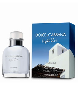D&G POUR LIGHT BLUE LIVING STROMBOLI EDT FOR MEN