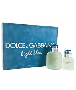 D&G LIGHT BLUE 125ML & 40ML GIFT SET FOR MEN