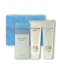 D&G LIGHT BLUE TRAVEL EDITION EDP GIFT SET FOR WOMEN