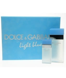 D&G LIGHT BLUE 100ML & 25ML GIFT SET FOR WOMEN