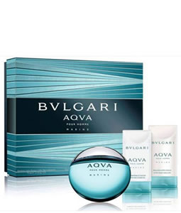 BVLGARI AQVA MARINE POUR HOMME 3 PCS GIFT SET FOR MEN