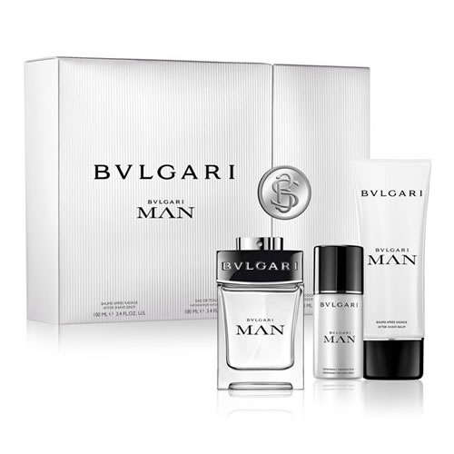 BVLGARI MAN WITH DEODORANT 3 PCS GIFT SET FOR MEN