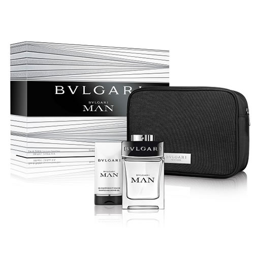 BVLGARI MAN WITH POUCH 3 PCS GIFT SET FOR MEN