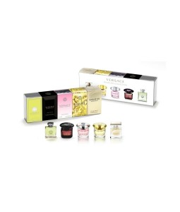 VERSACE MINIATURES COLLECTION 5 PCS MINIATURE GIFT SET FOR WOMEN