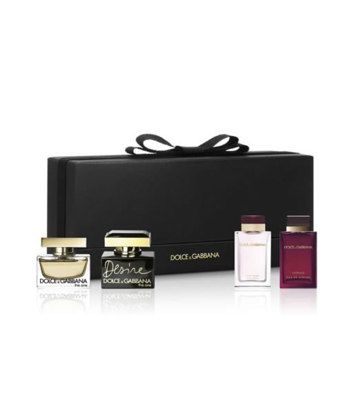 D&G DOLCE & GABBANA MINIATURE 4 PCS GIFT SET FOR WOMEN