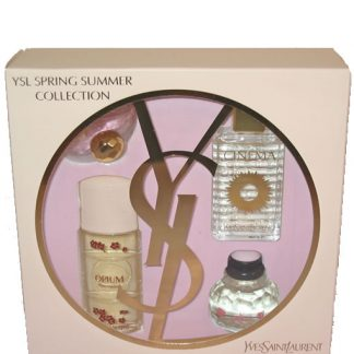YVES SAINT LAURENT YSL SPRING SUMMER COLLECTION 4 PCS MINIATURE GIFT SET FOR WOMEN