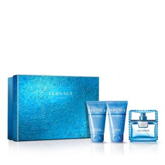 VERSACE MAN EAU FRAICHE 3 PIECES GIFT SET FOR MEN