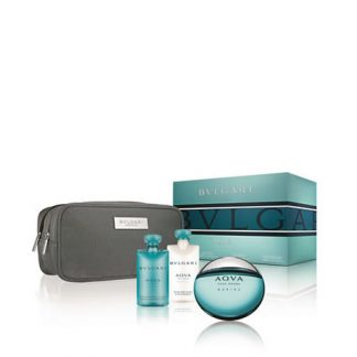 BVLGARI AQVA MARINE POUR HOMME 4 PCS GIFT SET FOR MEN