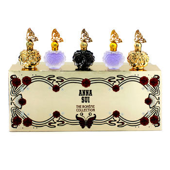 ANNA SUI THE BOHEME COLLECTION COFFRET 5X4ML/0.14OZ GIFT SET FOR WOMEN