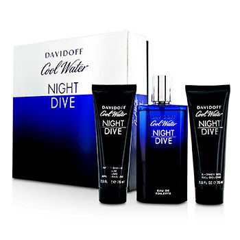 DAVIDOFF COOL WATER NIGHT DIVE COFFRET 3PCS GIFT SET FOR MEN