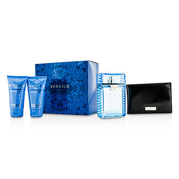 VERSACE EAU FRAICHE COFFRET 4PCS GIFT SET FOR MEN