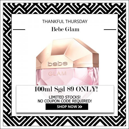 BEBE GLAM EDP FOR WOMEN 100ML [THANKFUL THURSDAY SPECIAL]