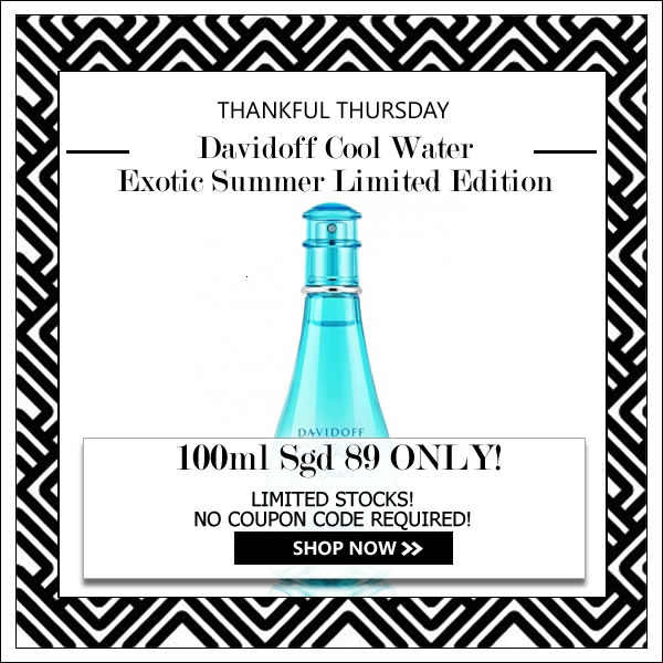 DAVIDOFF COOL WATER EXOTIC SUMMER LIMITED EDITION EDT FOR WOMEN 100ML [THANKFUL THURSDAY SPECIAL]