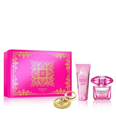 VERSACE BRIGHT CRYSTAL ABSOLU KEYCHAIN GIFT SET FOR WOMEN