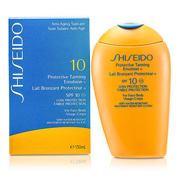 SHISEIDO PROTECTIVE TANNING EMULSION N SPF 10 (FOR FACE & BODY) 150ML/5OZ